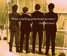 Funny pictures about Wise words from Paul McCartney. Oh, and cool pics about Wise words from Paul McCartney. Also, Wise words from Paul McCartney. We Will Rock You, All You Need Is Love, Ringo Starr, George Harrison, John Lennon, Great Bands, Cool Bands, Paul Mccartney Quotes, Music Rock