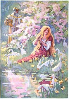 The Goose Girl -- Beatrice Stevens -- Fairytale Illustration