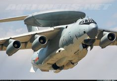 KJ-2000 (NATO reporting name: Mainring) (2003) is a Chinese Airborne early warning and control system comprising domestically designed electronics and radars installed on a modified Ilyushin Il-76 airframe.[2] KJ is the first character from the Chinese language Pinyin spelling of Kōng Jǐng (空警), short for Kōng Zhōng Yù Jǐng (空中预警), which means Airborne Early Warning.