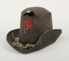 Philander B. Wright, Company C, 2nd Wisconsin Infantry, Iron Brigade, wore this hat on the morning of July 1, 1863, while carrying the National Colors during the charge against the Confederate forces on McPherson Ridge. As he advanced, two bullets punched through his hat, another splintered his flagstaff, and a final bullet slammed into his leg, knocking him to the ground
