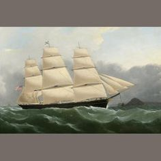 """Samuel Walters, """"The Clipper Ship Challenge""""  Sold for US$ 48,800 inc. premium"""