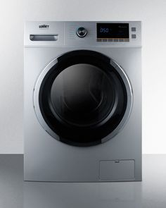 Summit Washer/Dryer Combo with 2 cu. Capacity Stainless Steel Drum 1200 RPM Delay Start Option 7 Wash Cycles and 3 Dry Cycles in Laundry Room Pictures, Small Laundry Rooms, Laundry Room Organization, Compact Washer And Dryer, Stainless Steel Drum, Laundry Pedestal, Laundry Dryer, Washer Machine, Front Load Washer