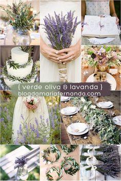 Decoração de Casamento : Paleta de Cores Verde Oliva e Lavanda | http://blogdamariafernanda.com/decoracao-de-casamento-paleta-de-cores-verde-oliva-e-lavanda