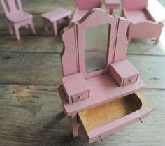 Shabby Sweet Vintage Strombecker Dollhouse Miniatures by BarnCandy, $130.00