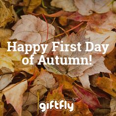 Happy First Day of Autumn! It sure feels like it in Darien, CT where GiftFly is headquartered! #daysoftheyear #fallishere #autumn2014