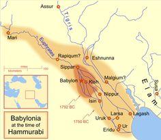 Babylonia at the time of Hammurabi, ca. 1792-1750 BC