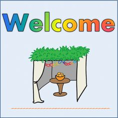 Sukkot decorations templates
