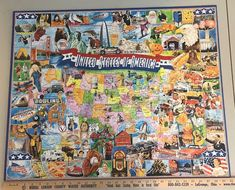 United States of America Puzzle 1000 PC White Mountain USA Map Complete for sale online Fox Collection, Puzzle Shop, Puzzle 1000, Teaching Social Studies, Looney Tunes, Jigsaw Puzzles, United States, The Unit, America