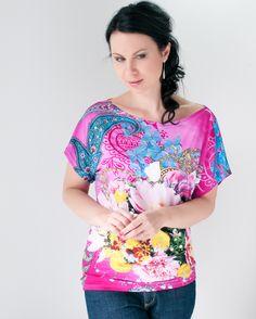 Li-La tričko Rozkvetlá jarní novinka ... Blouse, Tops, Women, Fashion, Blouse Band, Moda, Women's, La Mode, Shell Tops