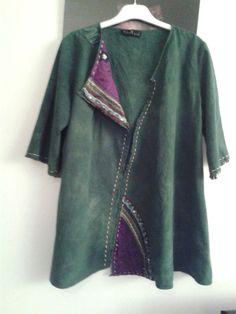 design denim jacket green