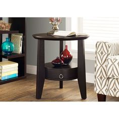 Monarch Specialties Cappuccino 23 Inch Accent Table On SALE