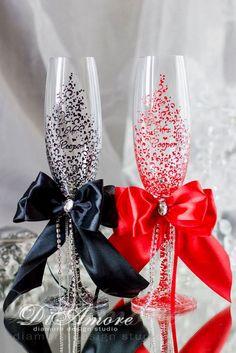 Wedding Glasses Décor Ideas To Impress You ❤ See more: http://www.weddingforward.com/wedding-glasses/ #weddings