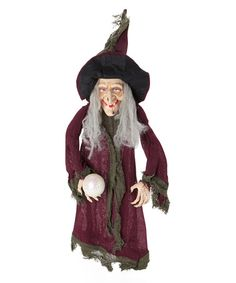 Love this Witch & Crystal Ball Hanging Décor by Worth Imports on #zulily! #zulilyfinds