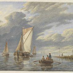 Bootjes op het water, Matthijs Maris, naar Hermanus Koekkoek (I), 1849 - 1917 - Rijksmuseum