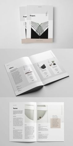 The Project Proposal is a modern brochure template to present your brand in an elegant and professional way, to publicize about the work you do, how it is Adobe Indesign, Indesign Templates, Brochure Template, Project Proposal Template, Business Proposal Template, Proposal Templates, Brochure Layout, Brochure Design, Adobe Illustrator