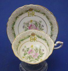 1953 Queen Elizabeth Coronation Wide Brim Paragon England Bone China TEA CUP | eBay