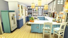 Sims 4 Family House, Home And Family, Sims 4 Houses, Big Houses, Living Room Sims 4, Sims 4 Kitchen, Sims 4 House Building, Sims 4 House Design, Sims Ideas