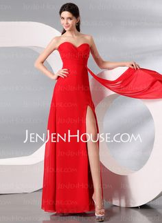 Evening Dresses - $124.99 - A-Line/Princess Sweetheart Floor-Length Chiffon Evening Dress With Ruffle (017013998) http://jenjenhouse.com/A-Line-Princess-Sweetheart-Floor-Length-Chiffon-Evening-Dress-With-Ruffle-017013998-g13998