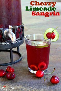 Cherry- Limeade Sangria from RecipeGirl.com