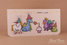 Make a Wish card with Critters Ever After stamp set