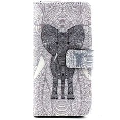 Elephant-Flip-Stand-Leather-Wallet-Case-W-New-Design-Card-Holder-For-iPhone