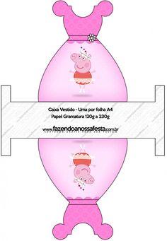 Caixa Vestido Peppa Pig Bailarina:
