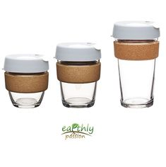 KeepCup Brew Glass Coffee Cup Tea Reusable Drink Fika Cork 8oz 12oz 16oz 3 sizes #KeepCup