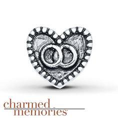 Charmed Memories® Wedding Rings Charm Sterling Silver