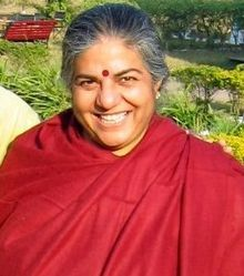 Vandana Shiva, Indian environmental activist for protecting seed biodiversity against biotech-profiteering and genetic engineering. Vandana Shiva, Fukuoka, Green Revolution, Sustainable Food, Environmentalist, Organic Farming, Bhutan, Genetics, Portrait