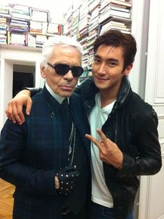 "Siwon's tweet: ""With Karl Lagerfeld in Paris :)"" - SS4 in Paris April 2012"