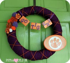 Clemson Tigers wreath!!!