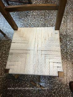 Encordar una silla de madera: Explicamos paso a paso como hacer este dibujo en un asiento es muy sencillo y te quedarán preciosas.