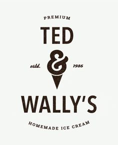Ted & Wally Logo Design | InBetween Studio  #logodesign #graphicdesign #retro