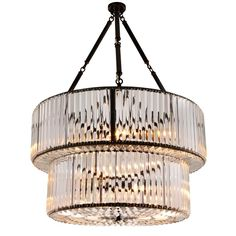 Chandelier round double in clear carved glass and gunmetal structure.Six bulbs, lamp holder type max 40 watts. Bulbs not included.Also available in Chandelier Round Triple andWall Lamp Round Simple. Light Bulb Chandelier, Art Deco Chandelier, Art Deco Lighting, Vintage Chandelier, Glass Chandelier, Home Lighting, Bulb Lights, Chandelier Chain, Luxury Lighting