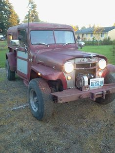 1956 Willys Truck - Photo submitted by Ryan Winebrenner. Vintage Jeep, Vintage Cars, Antique Cars, Willys Wagon, Utility Truck, Military Jeep, Old Jeep, Offroader, Jeep Stuff