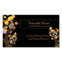 Whimsical Trees Business Cards. This is a fully customizable business card and available on several paper types for your needs. You can upload your own image or use the image as is. Just click this template to get started!