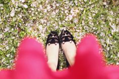 charlotte olympia kitty flats by the cherry blossom girl.
