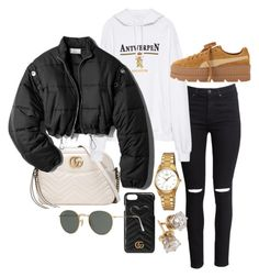"""""""Untitled #22743"""" by florencia95 ❤ liked on Polyvore featuring H&M, Gucci, Vetements, Puma, 3.1 Phillip Lim, Casio and Ray-Ban"""