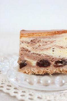 「【バレンタイン】マーブルチーズケーキ」milkcrown | お菓子・パンのレシピや作り方【corecle*コレクル】