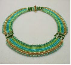 "Free ""Cleopatra Necklace"" by Laura Cole of Laura's Beads & Jewelry Boutique featured in Bead-Patterns.com Newsletter!"