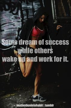 Get your ass out of bed and get to the gym...your not going to lose weight by laying there dreaming about it!!!!