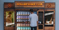Vending machines are the new name of the retail game Dollar Shave Club, Vending Machines, New Names, Machine Design, Retail, Let It Be, Marketing, Game, Venison