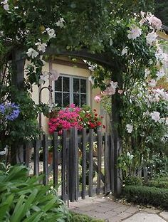 English garden fence and gate.