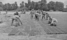 Installing Pierced Steel Planking (PSP) at Melun, France 1944