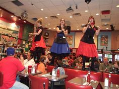 Ever heard of a diner with a one hour wait time? Only at Ellen's Stardust Diner, where every meal is a show, literally.