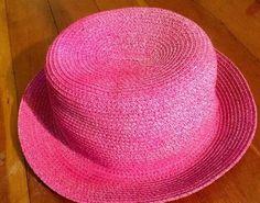 88f2a50868c7 $6.50 Pink Straw Hat One Sz Fits Most Bright Fuchsia Jaclyn Smith Beach  Sunhat #JaclynSmith