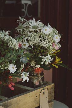 Australian natives bouquet http://hitchedmag.com.au/real-wedding-chloe-and-doug/
