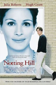 """Notting Hill An easy-going romantic comedy starring Hugh Grant and Julia Roberts.""""I'm just a girl. Two movies stars I don't even want to like but they work well together. Films Hd, Hd Movies, Movies Online, Watch Movies, Movies Free, Comedy Movies, Girly Movies, Teen Movies, Love Movie"""