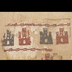Fragment of the pillow of  Fernando de Navarra Hispano-arabic, 13th c. ca. 1208 Silk, cotton, 20 x 18 cm Patrimonio Nacional, Monasterio de Santa María La Real de las Huelgas, Burgos Inv. 00651958