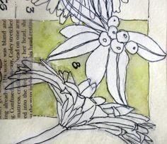 detail of sketchbook page